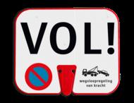 ConeSign - informatiepaneel kunststof voor op verkeerskegel