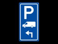 Parkeerroutebord E8p busje met pijl
