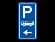 Parkeerroutebord E8d bus met aanpasbare pijl