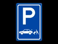 Verkeersbord RVV E07c - Parkeergelegenheid Laden en lossen