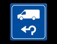 Verkeersbord - Routeverwijzing Transporterbus