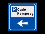 Verkeersbord - Parkeerplaatsverwijzing