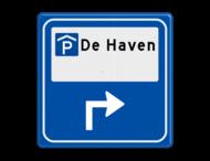 Verkeersbord - Parkeerplaatsverwijzing overdekt