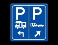 Parkeerbord E8n Camper en caravan met aanpasbare pijl