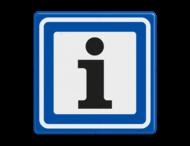 Verkeersbord RVV BW101S104 - informatiepuntverwijzing