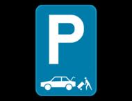Parkeerbord E9 laden en losen auto