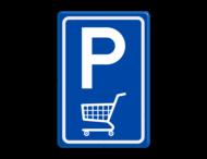Verkeersbord E08 parkeerplaats winkelwagen