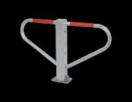 Antiparkeerbeugel - verzinkt of wit - neerklapbaar - cilinderslot
