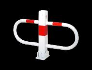 Antiparkeerbeugel - wit of verzinkt - neerklapbaar - cilinderslot