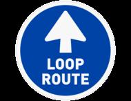 Vloersticker - Looproute