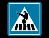 Verkeersbord SB250 - Silly Walk oversteekplaats