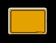 Tekstbord WIU geel - met logo in het kader