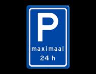 Verkeersbord RVV E08s - Parkeerplaats Bezoekers max 24h