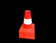 Afzetkegel/pylon 200mm - oranje/wit