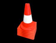 Afzetkegel PVC 300mm - oranje/wit