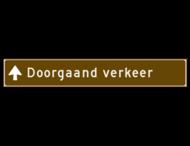 Verwijsbord toeristisch (bruin) - met tekst en eventueel pijlen