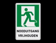 NOODUITGANG bord met tekst | E001