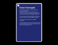Informatiebord - Huisregels Nederlandse Spoorwegen