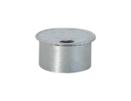 Afdekkap voor grondkoker - wegneembare paal Ø76mm
