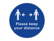 Vloersticker - Keep your distance