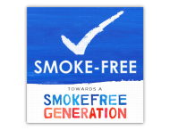 Vloersticker anti-slip - Smoke-free Generation