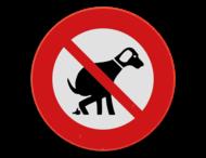 Verbodsbord - Honden uit te laten