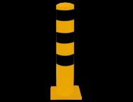 Rampaal Ø152x1000mm met voetplaat, verzinkt of geel/zwart