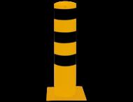 Rampaal Ø273x1500mm met voetplaat, verzinkt of geel/zwart