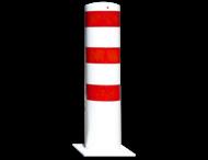 Rampaal Ø273x1500mm met voetplaat, verzinkt of wit/rood