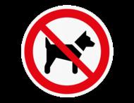 Vloersticker - Verboden voor honden