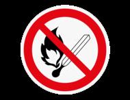 Vloersticker - Roken en open vuur verboden