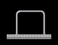 Fietsbeugel staal Ø48mm - 1000x1000mm - op de grond