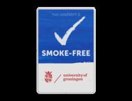 Smoke-Free University- Informatiebord - Engelstalig + logo