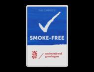 Smoke-Free Campus - Informatiebord - Engelstalig + logo