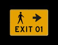 Tekstbord - voetgangers route - evenemet