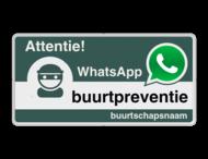 WhatsApp Attentie Buurtpreventie Informatiebord 05t - L209wa-g