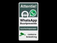 WhatsApp Attentie Buurtpreventie Informatiebord 03 - L209wa-g