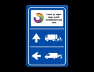 Routebord 2 richtingen met aanpasbare pijlen