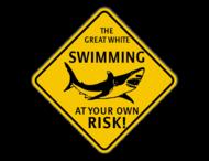Verkeersbord Australië - Shark