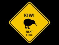 Verkeersbord Australië - Kiwi