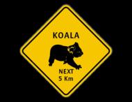 Verkeersbord Australië - Koala