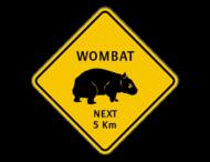 Verkeersbord Australië - Wombat