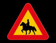 Verkeersbord Zweden - Ruiter