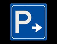 Verkeersbord RVV  E04 - Parkeergelegenheid + pijl
