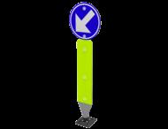 Kickback - Verend verkeersbord D1c met palenschild