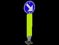 Kickback - Verend verkeersbord D1d met palenschild