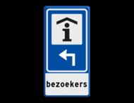Verkeersbord RVV BW101S104 - Informatiekantoor met aanpasbare pijlrichting