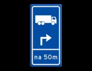 Parkeerroutebord E8c vrachtwagens met aanpasbare pijl en bedrijfsnaam