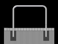 Fietsbeugel staal Ø48mm - 1000x1000mm - in de grond