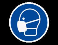 Vloersticker - Mondkapje/masker dragen verplicht